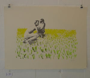 Image of Kirsty Whiten- Feral Family (in the open)- Team Recoat Screen Print
