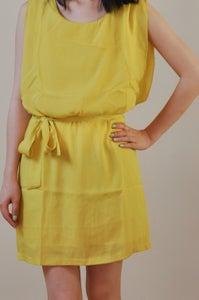 Image of Mustard Chiffon Dress