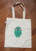 Image of Bike Owl tote bag