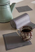 Image of SUZANNE CUMMINGS featuring MYdrap Cocktail Napkins(Gris/Sea Blue)