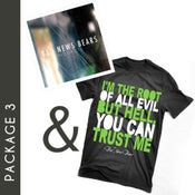 "Image of Package 3: ""Root Of All Evil"" T-Shirt & ""Prospects"" CD"