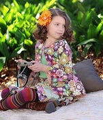 Image of Peace & Flowers Reversible Swing Jacket