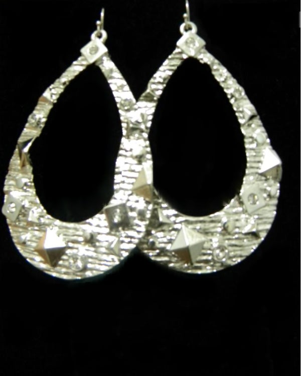 Image of Hammered Stud Earring- Silver