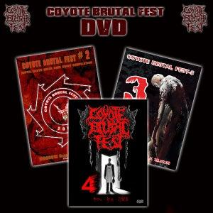 Image of COYOTE BRUTAL FEST DVD`s 2-3-4 12$