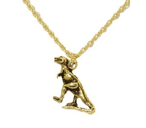 Image of Dinosaur Charm Necklace T-Rex