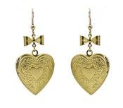 Image of Retro Heart Locket Earrings