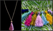 Image of French Tassel Charm Necklace