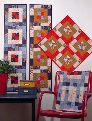 Image of Jelly Roll Runners and More I - Pattern Q115 PAPER Pattern