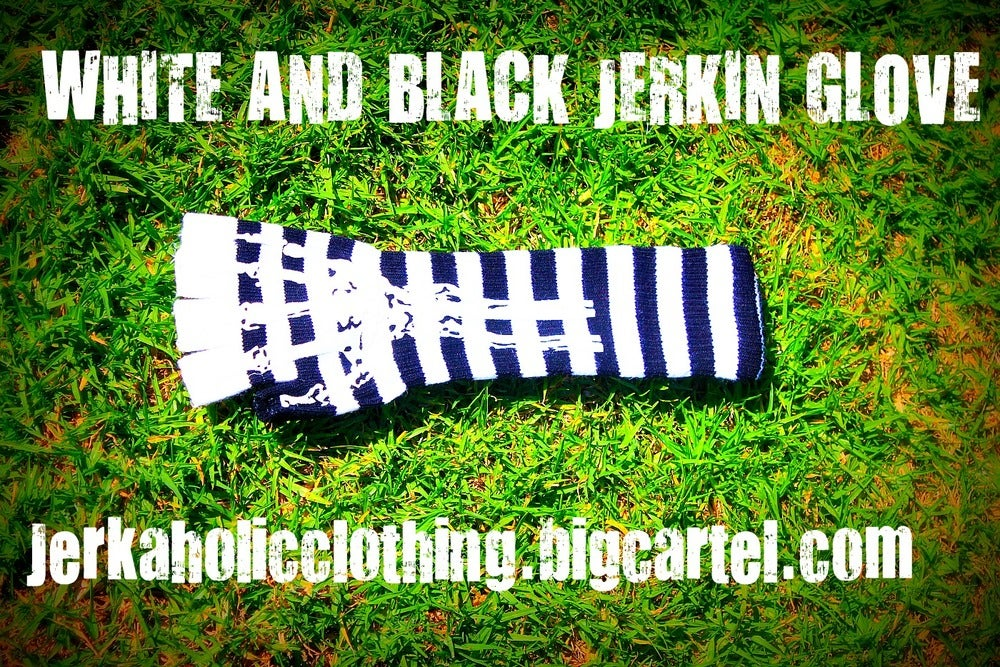 Image of WHITE AND BLACK JERKIN CANT DIE JERKIN GLOVE