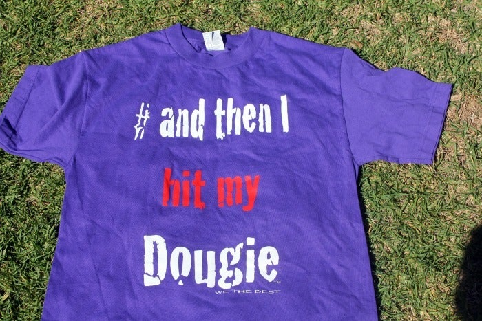 Image of purple red and white  #andthenihitmydougie