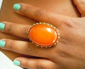 Image of Morrocan Honey Copal Amber ...X-large Cocktail Ring