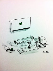 Image of Drawings of Paintings and their Matching Furniture #4