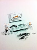 Image of Drawings of Paintings and their Matching Furniture #6