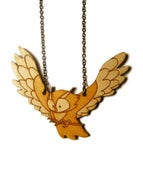 Image of Swinging Woodland Owl Necklace