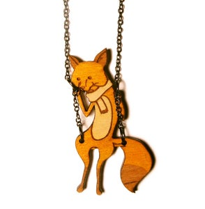 Image of Fox on a Swing Necklace