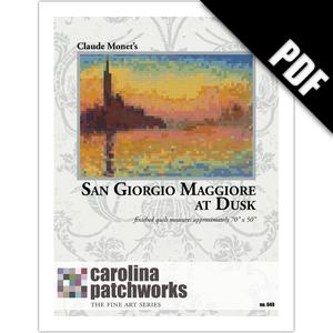 Image of No. 049 -- San Giorgio Maggiore at Dusk {PDF Version}