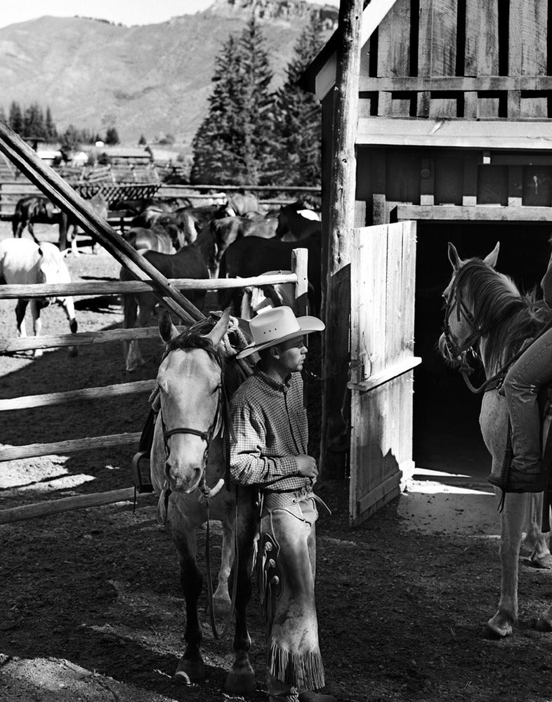 """Image of """"John Healey, Cowboy, Spotted Horse Ranch, Wyoming 2002"""" by Aldo Rossi"""