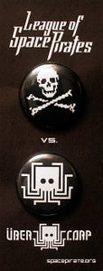Image of League of Space Pirates/Übercorp - Button Set