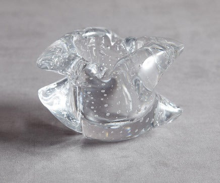 Image of Vintage French Crystal Bubble Bowl BC-100