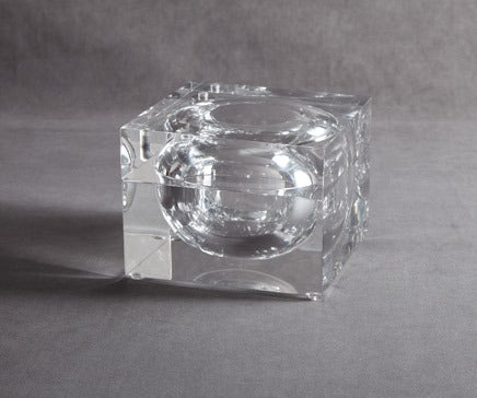 Image of Vintage Lucite Corner Swivel Box BC-121