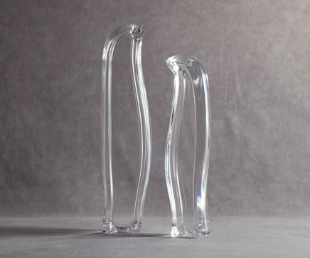 Image of Pair of Vintage Lucite Penguin Bookends BC-124
