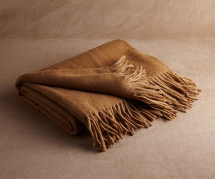 Image of Acorn Brown Baby Alpaca Throw BC-138