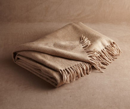 Image of Camel Baby Alpaca Throw BC-139