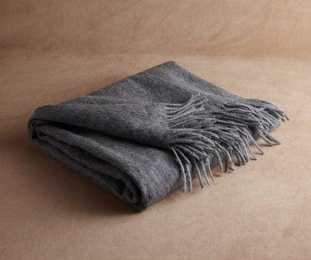 Image of Charcoal Grey Baby Alpaca Throw BC-140