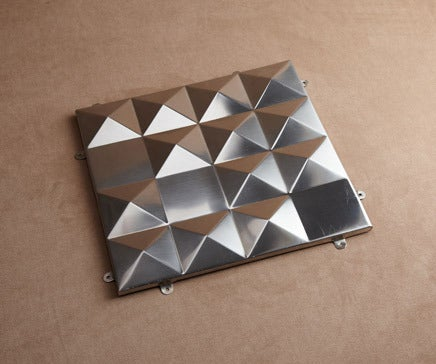 Image of Vintage Pressed Stainless Geometric Wall Tile BC-151