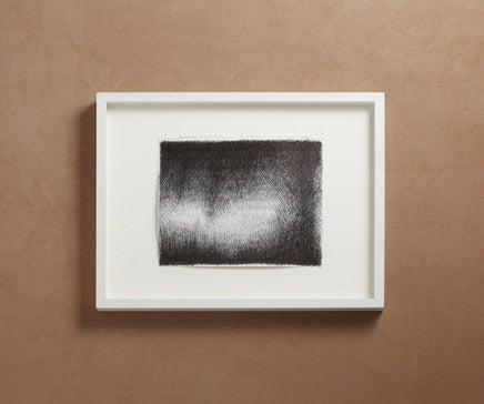 Image of Abstract Pen and Ink Drawing with White Painted Frame BC-158
