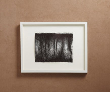 Image of Abstract Pen and Ink Drawing with White Painted Frame II BC-159