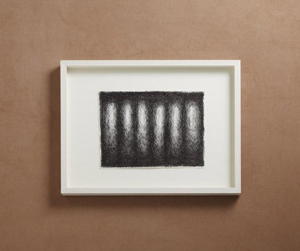 Image of Abstract Pen and Ink Drawing with White Painted Frame V BC-163