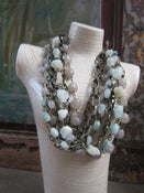 Image of Chunky Chain with Aquamarine and Gray Agate