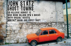 """Image of """"Ghost Towns"""" CD Release Show Posters"""