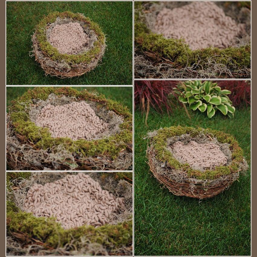 Image of Organic Realistic Birds Nest Photo Prop-EXTRA LARGE