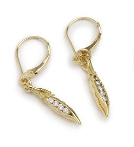 Image of Diamond Sweet Pea Earrings