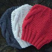 """Image of Bonnet """"Liza"""" bébé, laine mérinos & soie"""