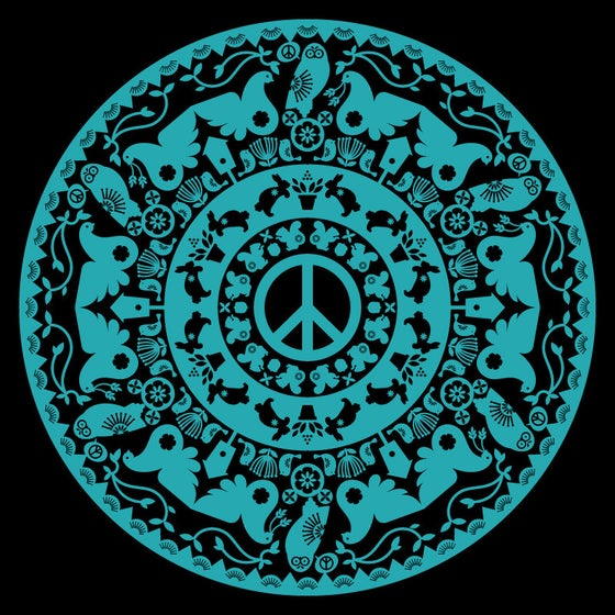 Image of Peace Radial T-shirt (black)