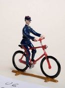 Image of 1870 Telegraph Messenger on Bicycle. (U6) (2 pieces)