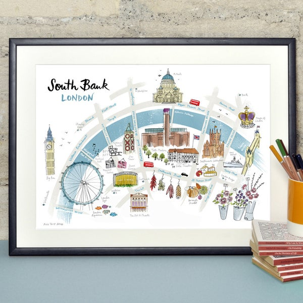 Alice Tait 'Map of South Bank' Print - Alice Tait Shop
