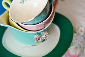 Image of Bird Nest Earrings-Red