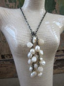 Image of Freshwater Pearl Cluster Knot Necklace