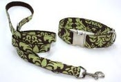 Image of Green Damask Leash on UncommonPaws.com