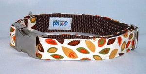 Image of Falling Leaves Dog Collar in the category  on Uncommon Paws.