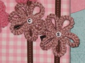 Image of Crocheted Loopy Monogram Bows