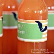 Image of Halloween Bat Water Bottle Labels