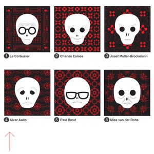 Image of individual prints in red