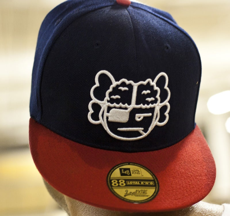 Image of Atama Logo Navy/Red Snapback Cap #02 (Limited Edition of 30 hats)