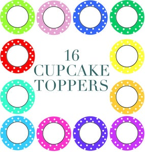 Image of Set of 16 Cupcake Toppers