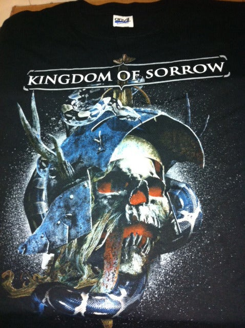 Image of Kingdom Of Sorrow 2nd album cover shirt (1 sided)